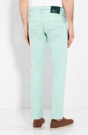 Мужские джинсы JACOB COHEN светло-зеленого цвета, арт. J622 C0MF 01861-W1/53   Фото 4