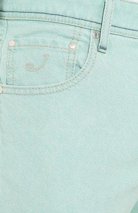 Мужские джинсы JACOB COHEN светло-зеленого цвета, арт. J622 C0MF 01861-W1/53   Фото 5
