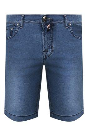 Мужские шорты из смеси хлопка и льна JACOB COHEN синего цвета, арт. J6636 C0MF 01853-W2/53 | Фото 1