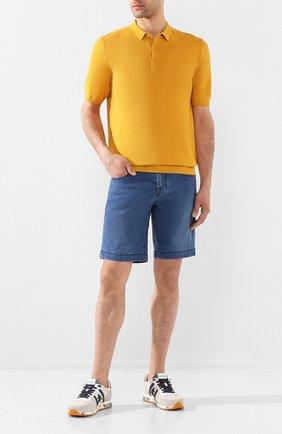 Мужские шорты из смеси хлопка и льна JACOB COHEN синего цвета, арт. J6636 C0MF 01853-W2/53 | Фото 2