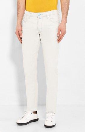 Мужские джинсы JACOB COHEN светло-голубого цвета, арт. J688 C0MF 01539-L/53 | Фото 3