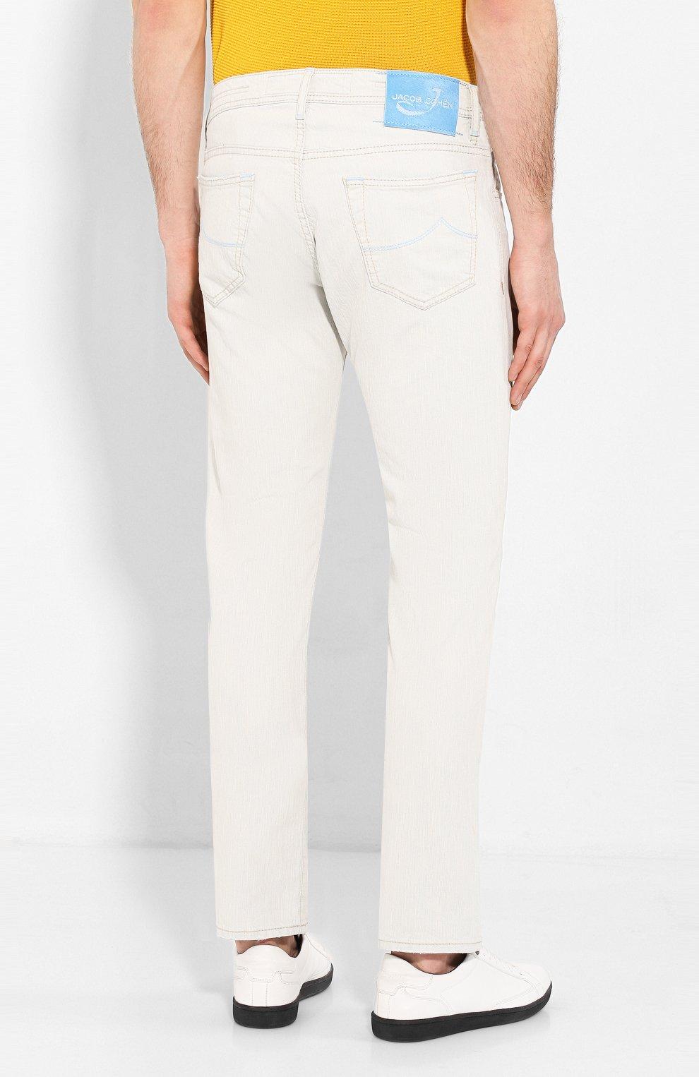 Мужские джинсы JACOB COHEN светло-голубого цвета, арт. J688 C0MF 01539-L/53 | Фото 4