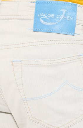 Мужские джинсы JACOB COHEN светло-голубого цвета, арт. J688 C0MF 01539-L/53 | Фото 5
