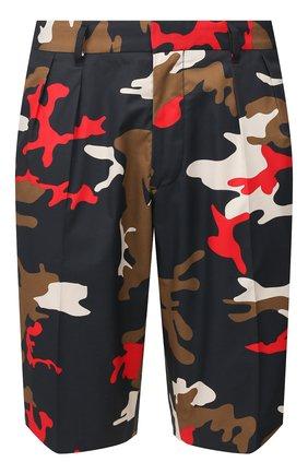 Мужские хлопковые шорты BOSS разноцветного цвета, арт. 50425621 | Фото 1