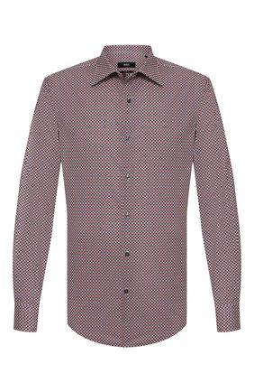Мужская хлопковая сорочка BOSS бордового цвета, арт. 50428176 | Фото 1