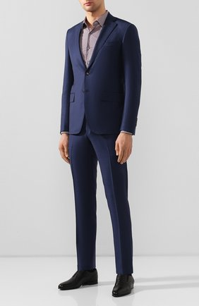 Мужская хлопковая сорочка BOSS бордового цвета, арт. 50428176 | Фото 2