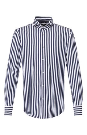 Мужская хлопковая сорочка BOSS синего цвета, арт. 50428963 | Фото 1