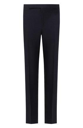 Мужские брюки из смеси шелка и льна RALPH LAUREN темно-синего цвета, арт. 798794547 | Фото 1 (Материал подклада: Вискоза; Материал внешний: Шелк, Лен; Длина (брюки, джинсы): Стандартные; Случай: Формальный; Стили: Классический)