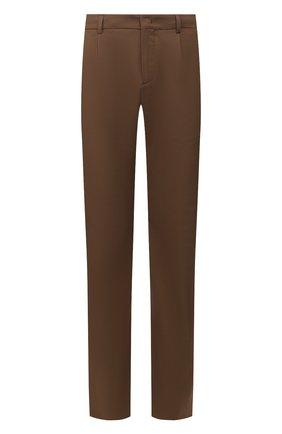 Мужской брюки из смеси хлопка и шелка LORO PIANA коричневого цвета, арт. FAL1505 | Фото 1