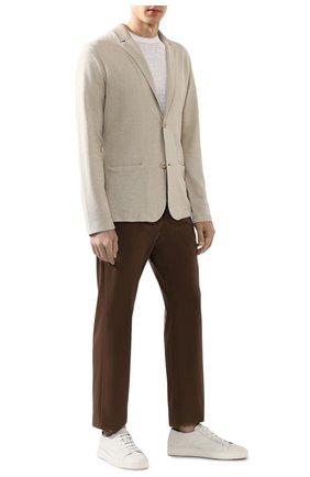 Мужские брюки из смеси хлопка и шелка LORO PIANA коричневого цвета, арт. FAL1505 | Фото 2 (Материал внешний: Хлопок; Длина (брюки, джинсы): Стандартные; Случай: Повседневный; Стили: Кэжуэл)