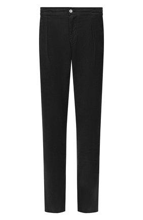 Мужской брюки из смеси хлопка и шелка MARCO PESCAROLO черного цвета, арт. CHIAIA/4111 | Фото 1