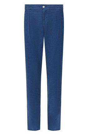 Мужской брюки из смеси хлопка и шелка MARCO PESCAROLO синего цвета, арт. CHIAIA/4111 | Фото 1
