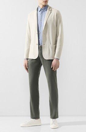 Мужской шерстяные брюки BERWICH зеленого цвета, арт. SC/1/MZ0260B | Фото 2