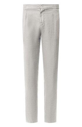 Мужской льняные брюки MARCO PESCAROLO светло-серого цвета, арт. CHIAIA/4107 | Фото 1