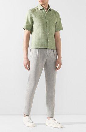 Мужской льняные брюки MARCO PESCAROLO светло-серого цвета, арт. CHIAIA/4107 | Фото 2