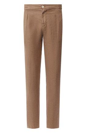 Мужской льняные брюки MARCO PESCAROLO бежевого цвета, арт. CHIAIA/4107 | Фото 1