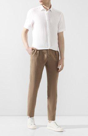 Мужской льняные брюки MARCO PESCAROLO бежевого цвета, арт. CHIAIA/4107 | Фото 2