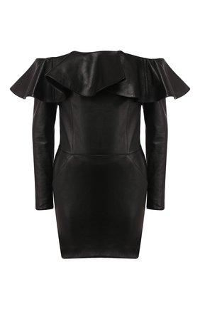 Женское кожаное платье SAINT LAURENT черного цвета, арт. 600593/YC2UE | Фото 1