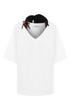 Женская хлопковая футболка DOROTHEE SCHUMACHER белого цвета, арт. 723501/CASUAL GLAM | Фото 1