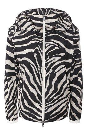 Женская куртка pomme MONCLER черно-белого цвета, арт. F1-093-1A743-00-C0495 | Фото 1
