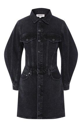 Женское джинсовое платье AGOLDE черного цвета, арт. A2003-1157 | Фото 1