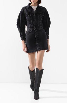 Женское джинсовое платье AGOLDE черного цвета, арт. A2003-1157 | Фото 2