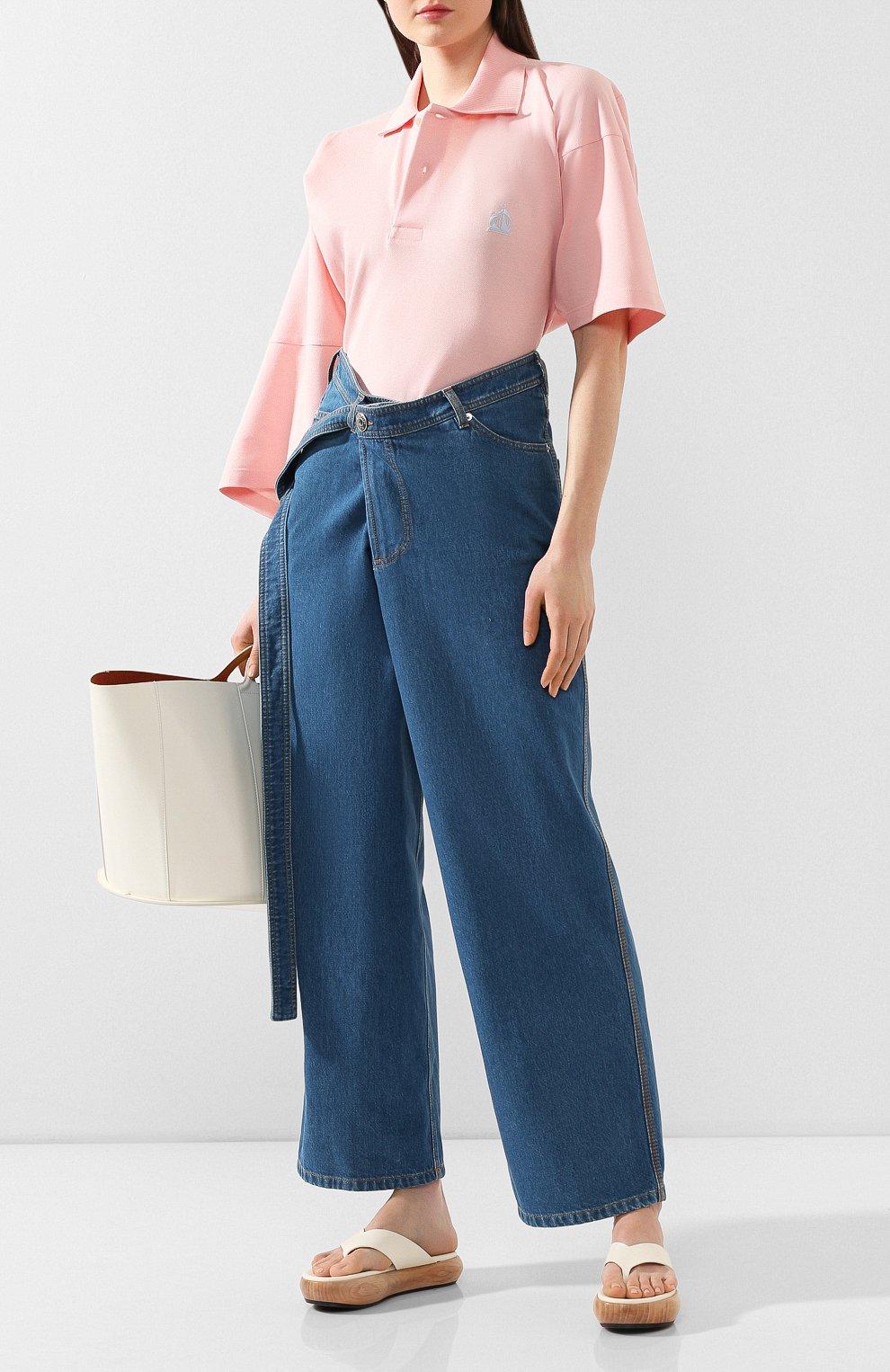 Женские джинсы LANVIN синего цвета, арт. RW-TR527D-DZ01-E20   Фото 2
