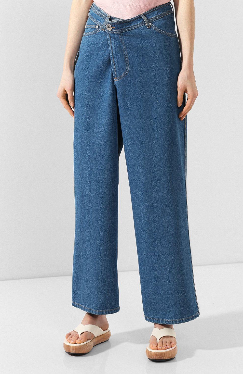 Женские джинсы LANVIN синего цвета, арт. RW-TR527D-DZ01-E20   Фото 3