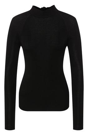 Женский пуловер из вискозы PETAR PETROV черного цвета, арт. KIENA S20K42 | Фото 1