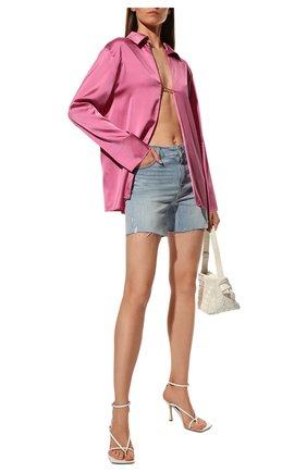 Женские джинсовые шорты PAIGE голубого цвета, арт. 5140F72-7653 | Фото 2