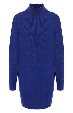 Женское платье из смеси шерсти и вискозы MICHAEL MICHAEL KORS синего цвета, арт. MF98ZAWCSN | Фото 1