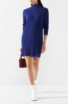 Женское платье из смеси шерсти и вискозы MICHAEL MICHAEL KORS синего цвета, арт. MF98ZAWCSN | Фото 2