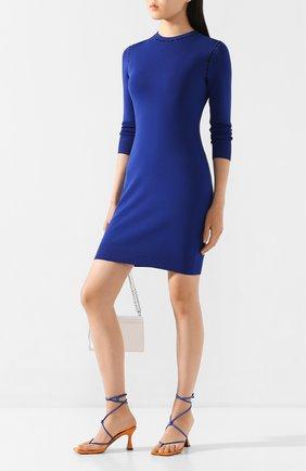 Женское платье из вискозы MICHAEL MICHAEL KORS синего цвета, арт. MF98ZGABVC | Фото 2
