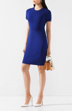 Женское платье из вискозы MICHAEL MICHAEL KORS синего цвета, арт. MF98ZGTBVC | Фото 2