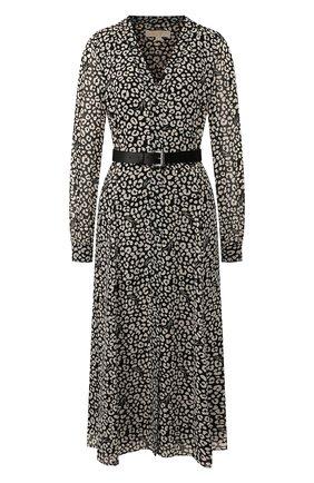 Женское платье с ремнем MICHAEL MICHAEL KORS черно-белого цвета, арт. MH98Y46DDM | Фото 1