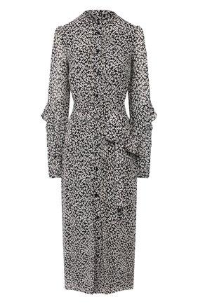 Женское платье-миди MICHAEL MICHAEL KORS черно-белого цвета, арт. MH98ZCYDGJ | Фото 1