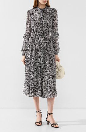 Женское платье-миди MICHAEL MICHAEL KORS черно-белого цвета, арт. MH98ZCYDGJ | Фото 2