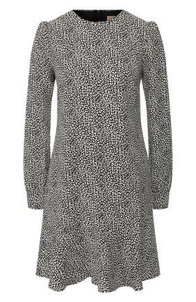 Женское мини-платье MICHAEL MICHAEL KORS черно-белого цвета, арт. MH98ZEXDFG | Фото 1