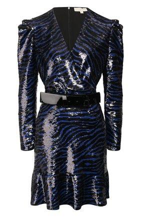 Женское платье с пайетками MICHAEL MICHAEL KORS синего цвета, арт. MH98ZF9DFP | Фото 1