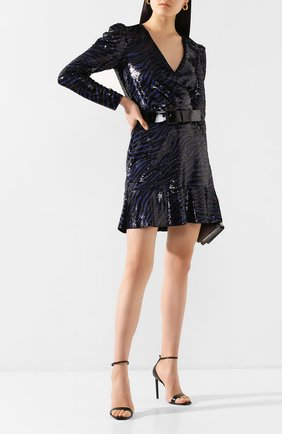 Женское платье с пайетками MICHAEL MICHAEL KORS синего цвета, арт. MH98ZF9DFP | Фото 2