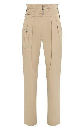 Женские хлопковые брюки DOLCE & GABBANA бежевого цвета, арт. FTBSAT/FUFJ9 | Фото 1