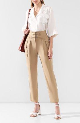 Женские хлопковые брюки DOLCE & GABBANA бежевого цвета, арт. FTBSAT/FUFJ9 | Фото 2