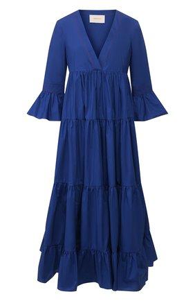 Женское хлопковое платье LA DOUBLEJ синего цвета, арт. DRE0114-C0T001-BLU0005_ED20 | Фото 1