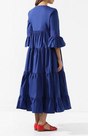 Женское хлопковое платье LA DOUBLEJ синего цвета, арт. DRE0114-C0T001-BLU0005_ED20 | Фото 4