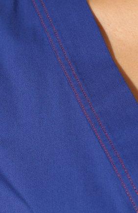 Женское хлопковое платье LA DOUBLEJ синего цвета, арт. DRE0114-C0T001-BLU0005_ED20 | Фото 5