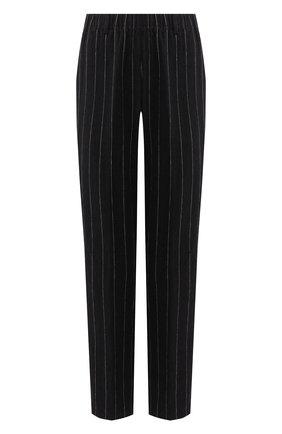 Женские брюки из смеси льна и хлопка FORTE_FORTE черного цвета, арт. 7217 | Фото 1