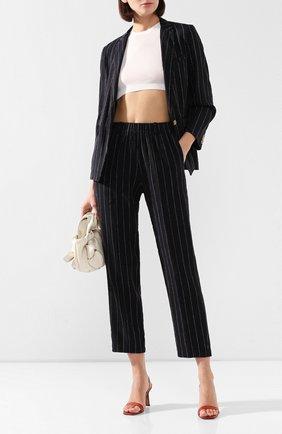 Женские брюки из смеси льна и хлопка FORTE_FORTE черного цвета, арт. 7217 | Фото 2