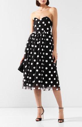 Женское платье-миди GIUSEPPE DI MORABITO черно-белого цвета, арт. SS20048LD-82   Фото 2