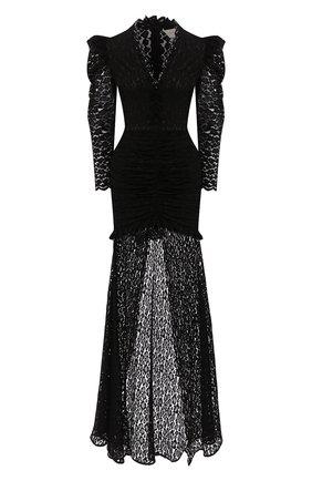 Женское платье-макси GIUSEPPE DI MORABITO черного цвета, арт. SS20050LD-85   Фото 1