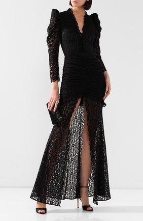 Женское платье-макси GIUSEPPE DI MORABITO черного цвета, арт. SS20050LD-85   Фото 2